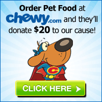Order your Pet Food at Chewy.com and In-sync Exotics will get a $20 donation!